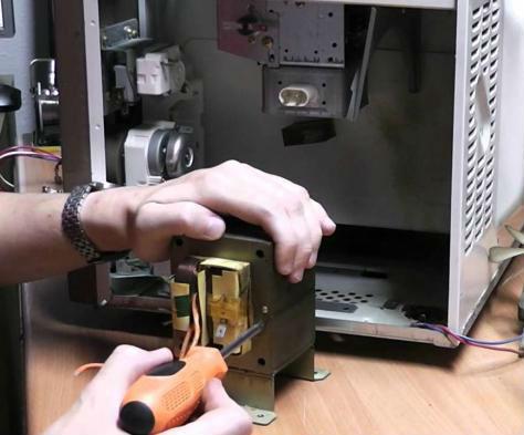 Ремонт двигателя микроволновки своими руками 21